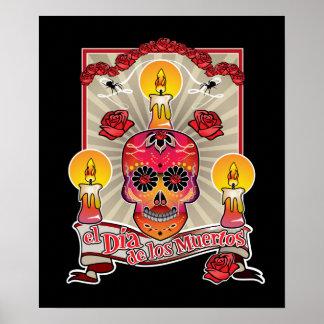 El Dia De Los Muertos - día de los muertos Póster