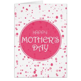 El día de los pétalos de madre feliz dispersada tarjeta de felicitación