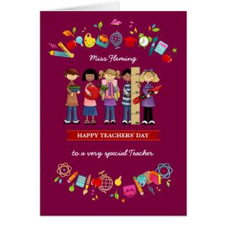 El día de los profesores felices. Tarjetas de