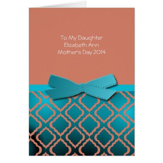 El día de madre a la tarjeta de la hija