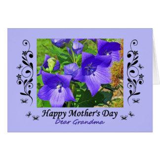 El día de madre, abuela, flores de globo, tarjeta de felicitación