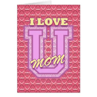 El día de madre: Ámele mamá Tarjeta De Felicitación