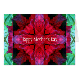 El día de madre carmesí de la travesía tarjeta de felicitación