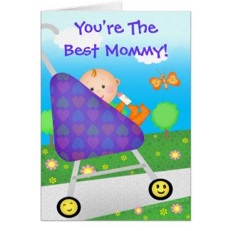El día de madre/cumpleaños de encargo/nueva mamá tarjetas