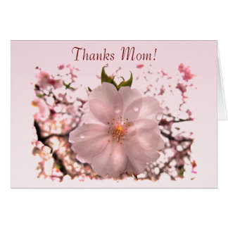 El día de madre de la flor de cerezo tarjeta de felicitación