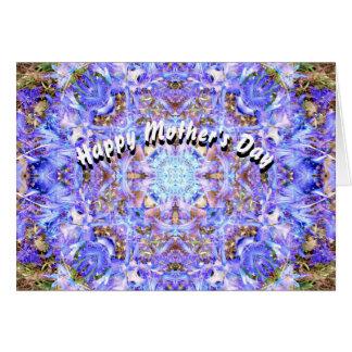 El día de madre de la mandala del jacinto tarjeta de felicitación