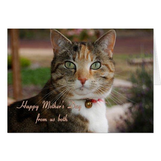 El día de madre, de nosotros ambos tarjeta de felicitación