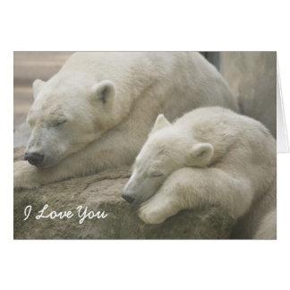 El día de madre del oso polar tarjeta de felicitación