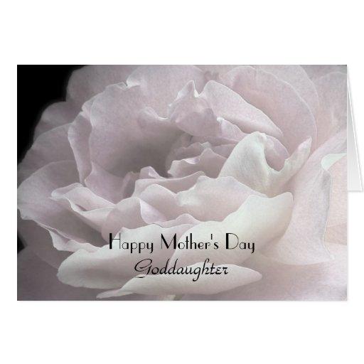 El día de madre feliz a la ahijada, pétalos color  tarjetas