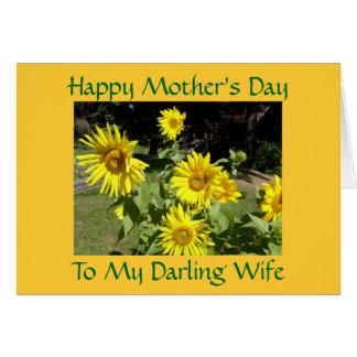 El día de madre feliz, a mi esposa querida tarjetón