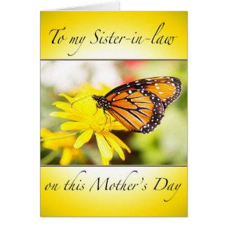 El día de madre feliz a mi tarjeta de la cuñada