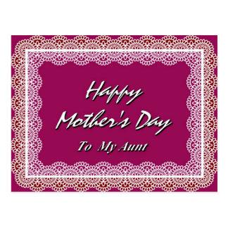 El día de madre feliz a mi tía postal