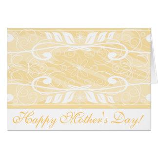 ¡El día de madre feliz! _beige Tarjeta De Felicitación