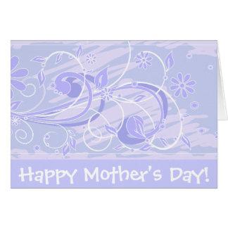 ¡El día de madre feliz! _blue Tarjeta De Felicitación