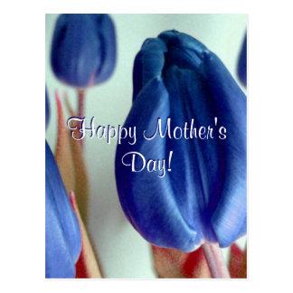 El día de madre feliz BlueTulips Postal