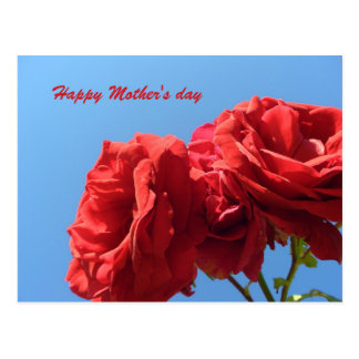 El día de madre feliz con los rosas rosados postal