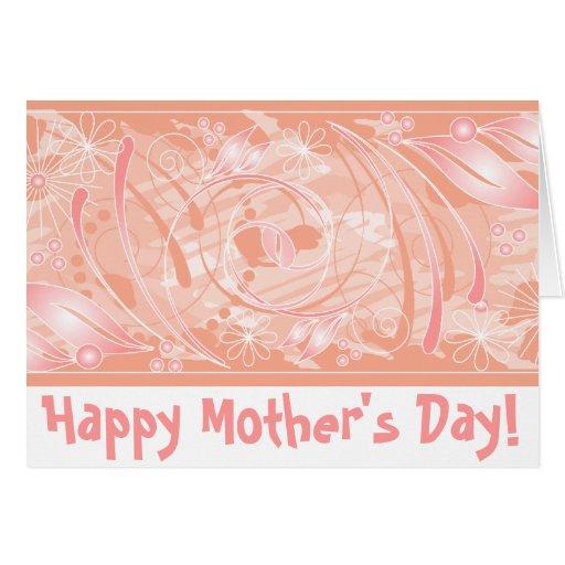 ¡El día de madre feliz! _coral Tarjeta