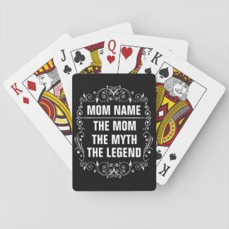 El día de madre feliz de la mamá baraja de cartas
