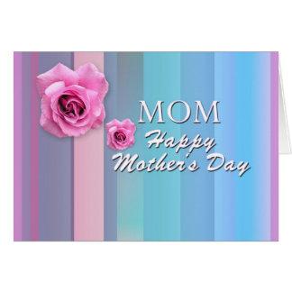 El día de madre feliz de la MAMÁ Tarjetón