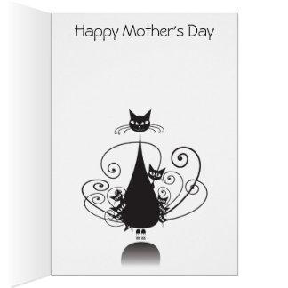El día de madre feliz de las colas de O nueve del
