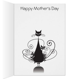 El día de madre feliz de las colas de O nueve del Tarjeta De Felicitación