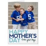 El día de madre feliz de sus muchachos tarjetas