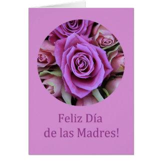 El día de madre feliz español tarjeta pequeña