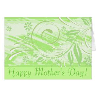 ¡El día de madre feliz! _green Tarjeta De Felicitación