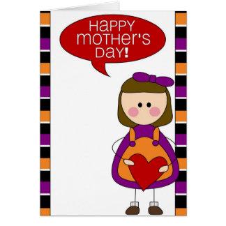 el día de madre feliz (hija) tarjeta de felicitación