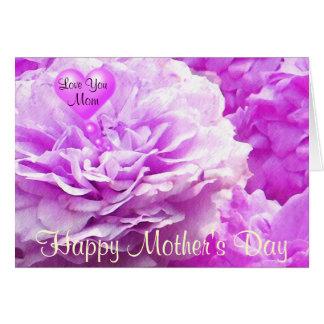 El día de madre feliz, le ama Mom_ Tarjeta Pequeña