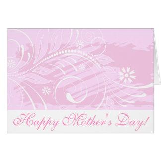 ¡El día de madre feliz! _pink Tarjeta De Felicitación