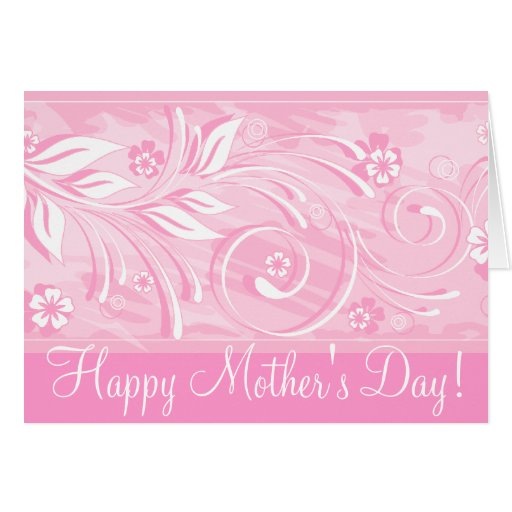 ¡El día de madre feliz! _pink Tarjeta