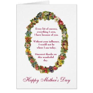 El día de madre feliz sarcástico del encogimiento tarjeta