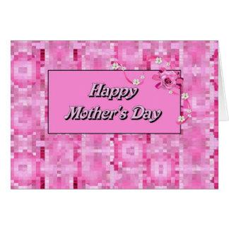 El día de madre feliz tarjetón