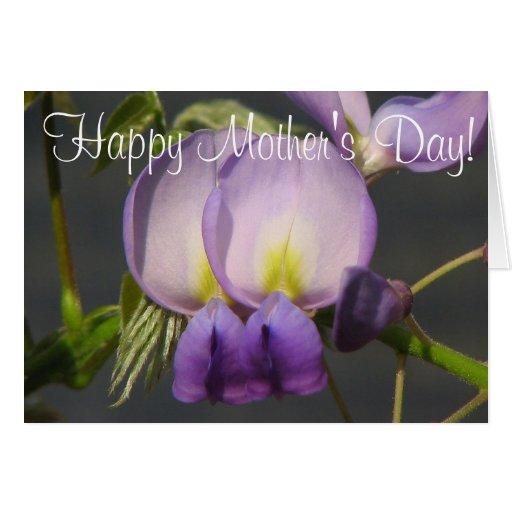 ¡El día de madre feliz! Tarjetón
