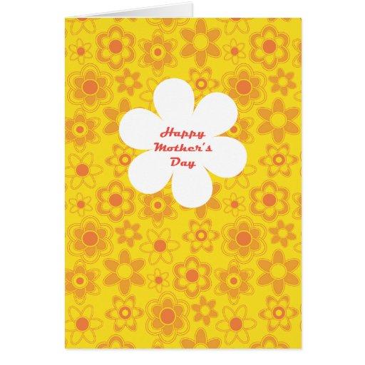 El día de madre feliz tarjeta