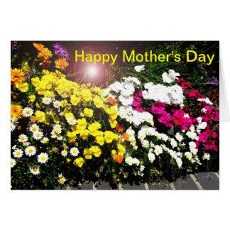 El día de madre feliz tarjeta de felicitación