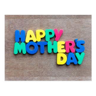El día de madre feliz postal