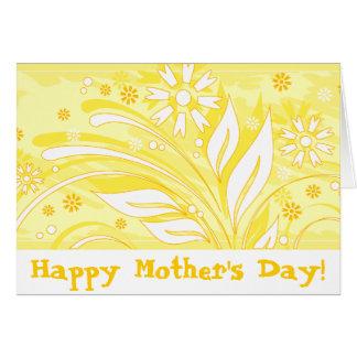 ¡El día de madre feliz! _yellow Tarjeta De Felicitación