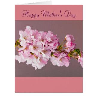 El día de madre florece los pétalos de los flores tarjeta de felicitación grande