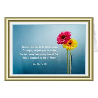El día de madre - margaritas en un florero - tarjeta de felicitación