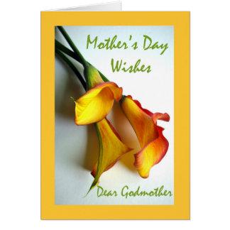 El día de madre para la madrina, calas tarjeta de felicitación