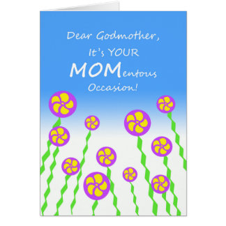 El día de madre para la madrina, retruécano tarjeta de felicitación