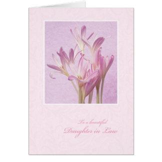 El día de madre para la nuera tarjeta de felicitación