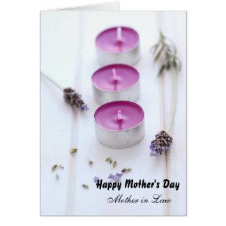 El día de madre para la suegra tarjeta de felicitación
