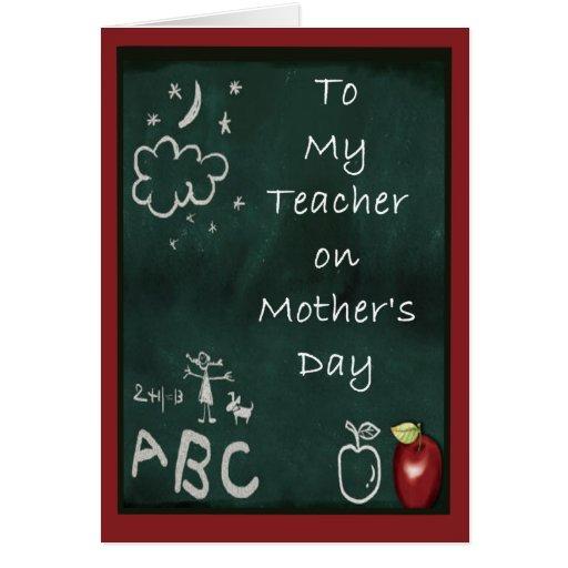 El día de madre para los profesores felicitación