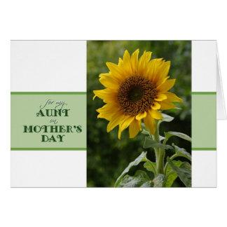 El día de madre para tía Superb Sunflower Card Tarjeta De Felicitación