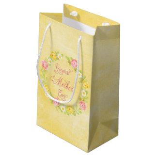 El día de madre - rosas bonitos de la acuarela 3 bolsa de regalo pequeña