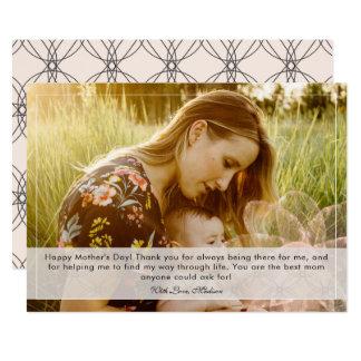 El día de madre se ruboriza decorativo con la capa invitación 12,7 x 17,8 cm