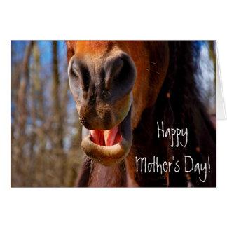 El día de madre sonriente personalizada del tarjeta de felicitación